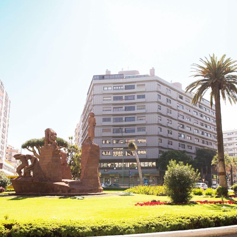 Situado en el corazón de la ciudad de Las Palmas de Gran Canaria