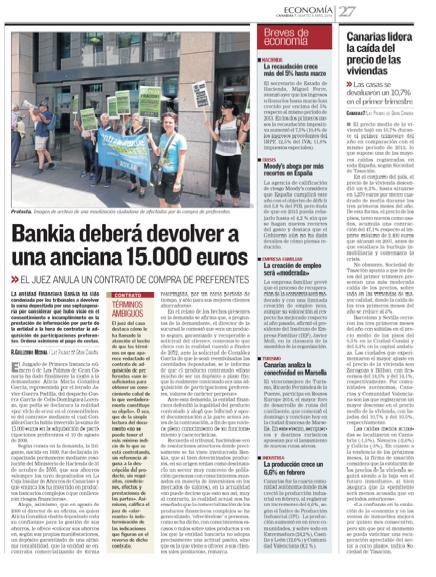 Bankia deberá devolver a una anciana 15.000 euros