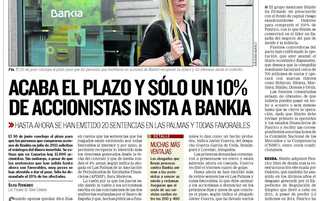 Acaba el plazo y sólo un 10% de accionistas insta a Bankia